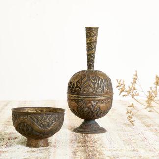 Duo ethnique en cuivre