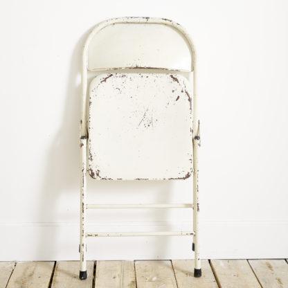 chaise métal vintage pliante