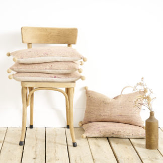 Wild silk cushion