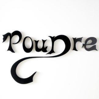 """Mot """"Poudre"""" lettres d'enseigne metal"""