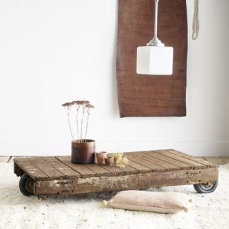 Wooden coffee table industrial