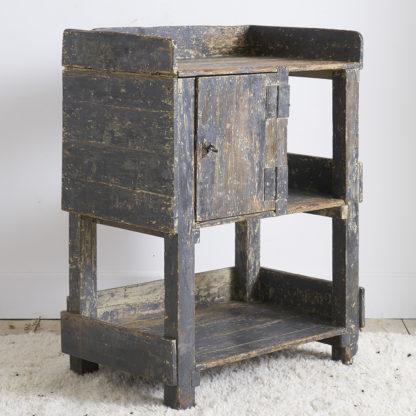 établi bois patiné atelier meuble de métier