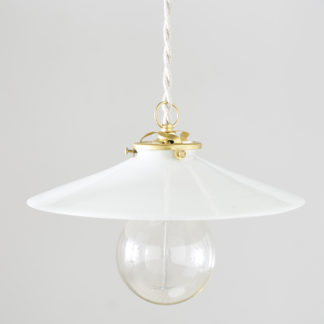 Flat Opaline ceiling light