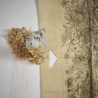 chatte desaccord trophée mural