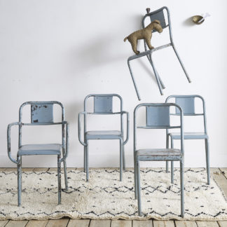 Chaises/fauteuils en métal INDUSTRIEL