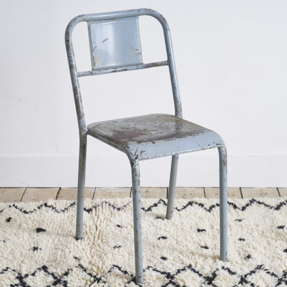 Set of metal industrial chairs/armchairs tolix