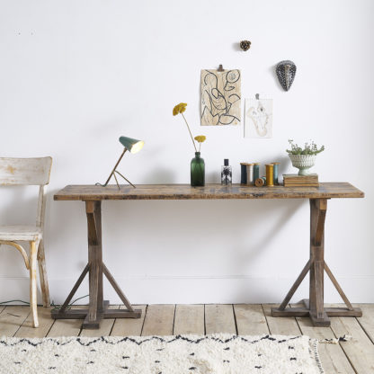 Low wooden console trestles INDUSTRIAL
