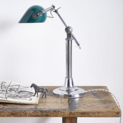 Ancienne lampe de bureau/banquier des années 30.
