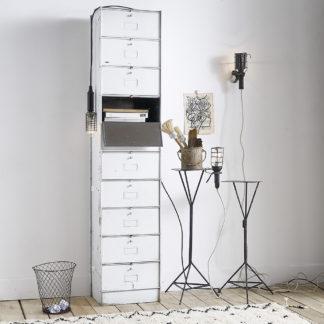 meuble à clapets en métal peint