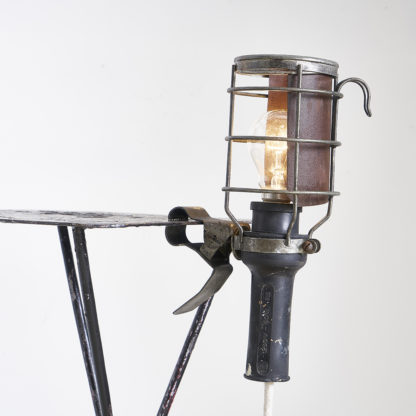 Vintage workshop cage lamps