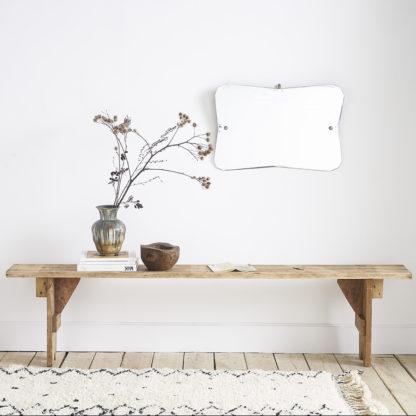 Ancien banc en bois de sapin
