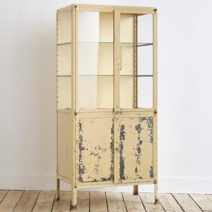 Ancienne vitrine en métal des années 50'.