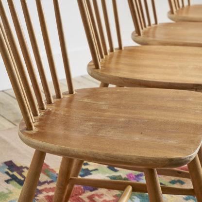 chaises bois style scandinave années 60 dossier à barreaux