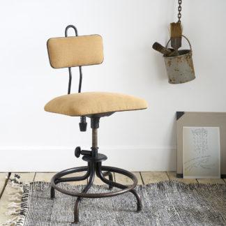 chaise industrielle d'atelier pivotante Flambo par Enri Libier