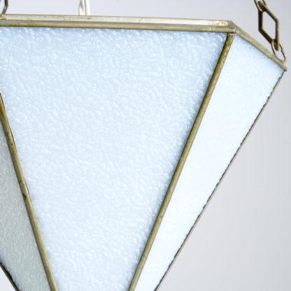 Lustre 'Art déco' esprit vitraux verre goutte d'eau teinté