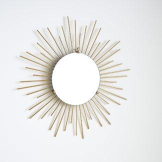 Miroir soleil laiton