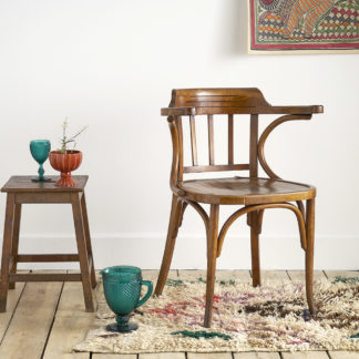 Ancien fauteuil de bureau en bois courbé thonet