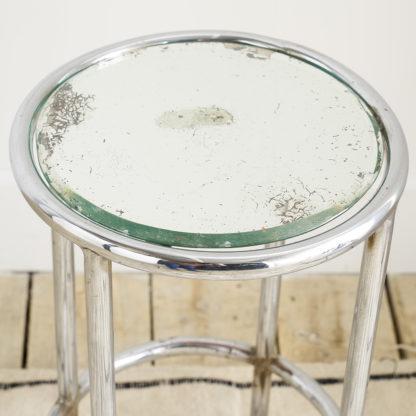 Petite table d'appoint 1970 miroir