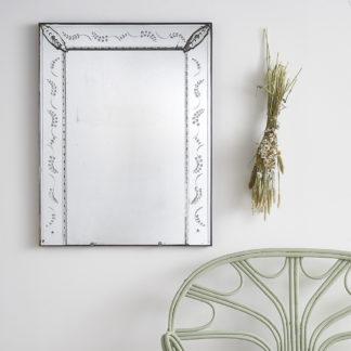 Ancien miroir trumeau de style vénitien.