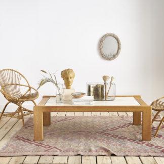 Table basse des années 60 dans l'esprit du design français André Sornay