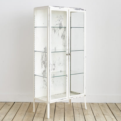 vitrine de pharmacie en métal des années 50'