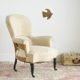 "Ancien fauteuil ""crapaud"""