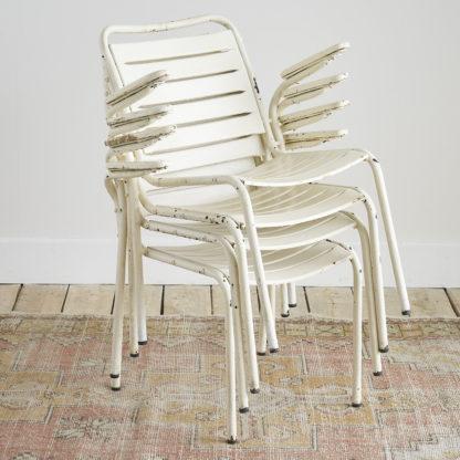 fauteuils de jardin en métal industriel