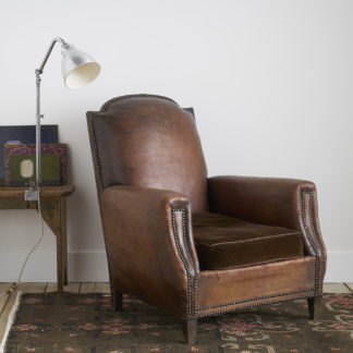 Ancien fauteuil club des années 30 cuir