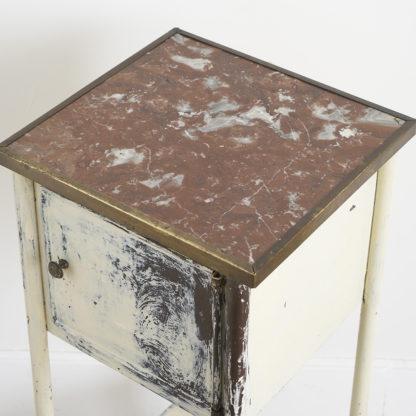 Chevet patiné laiton métal