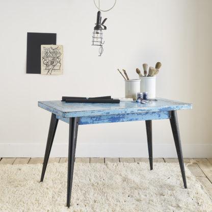 Table 'Tolix' bleue