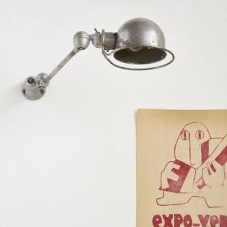 Ancienne lampe d'atelier de la marque JIEDE applique