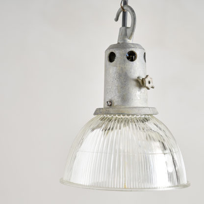 Suspension lumineuse d'atelier Holophane industrielle