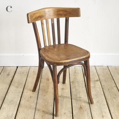 Chaise de bistrot 'Thonet' et 'Fischel'