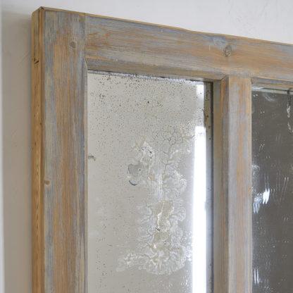Miroir usine patiné