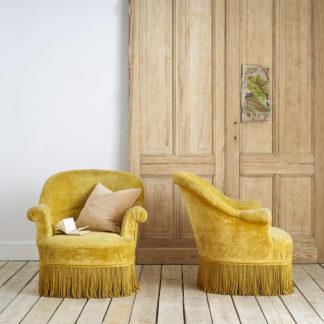 fauteuils crapauds vintage des années 60.
