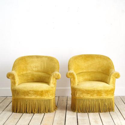 fauteuils crapauds vintage des années 60