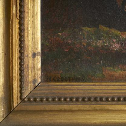 Nature morte du début du siècle signée H.CLOOTENS. Huile sur bois