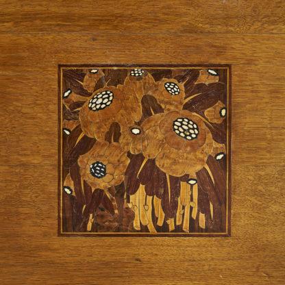 Comptoir/bureau Art déco 1930 chêne massif