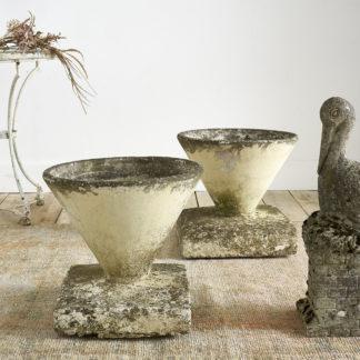 vasques de jardin fibro ciment beton années 50