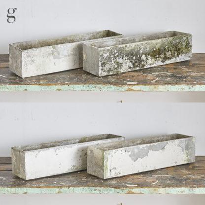 Jardinière des années 50-60 fibro ciment