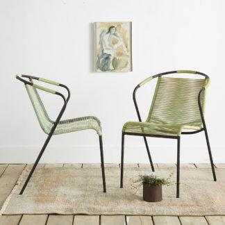 fauteuils scoubidou des années 60.