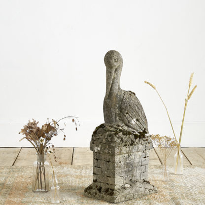 Cigogne en béton