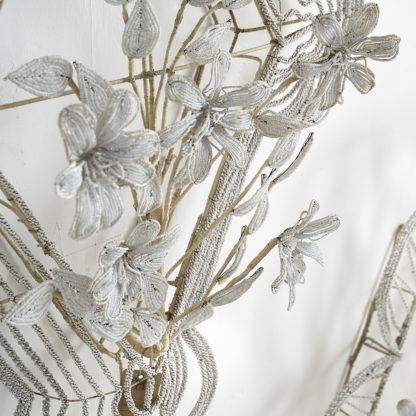 Anciennes décorations funéraires en perles de verre