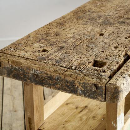 Ancien meuble de métier établi