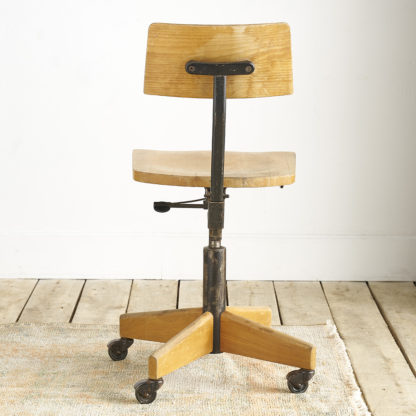 Chaise de bureau pivotante 'Giroflex'.