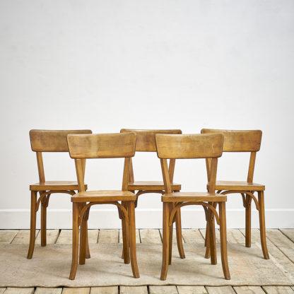"""chaises de bistrot """"Baumann"""" des années 60."""