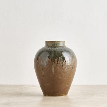 Vase en grès flammé