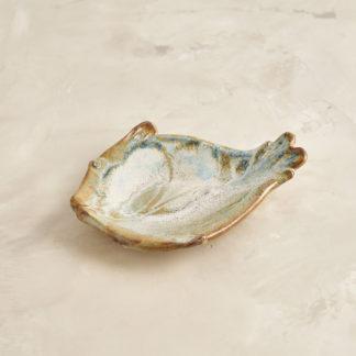 Vide poche poisson Petit plat en grès émaillé