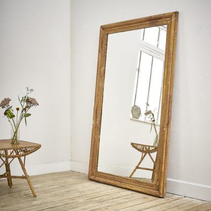Ancien miroir patiné début XXème.