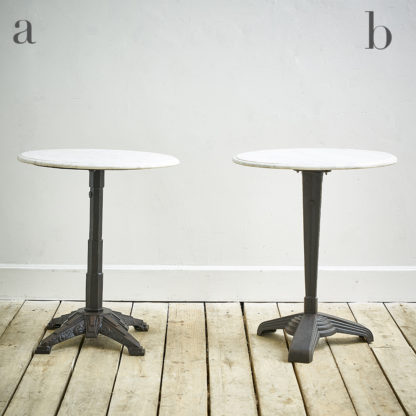 Table de bistrot N&B